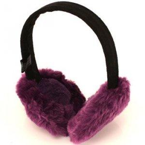 Winter Fuzzy Ski Earmuff muff Warmer Headband Purple
