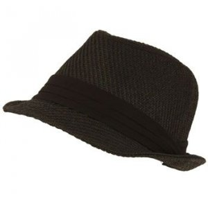 Summer Braid Light Fedora Trilby Hat Black 2XL 7-3/4