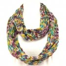 Soft Knit Chain Circle Loop Eternity Ski Scarf Purple