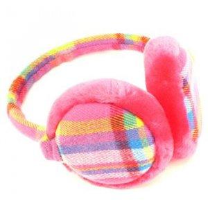 Winter Ski Fuzzy Earmuff Ear Warmer Adjustable Hot Pink