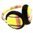 Winter Ski Fuzzy Earmuff Ear Warmer Adjustable Yellow