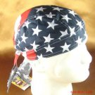 US FLAG BIKER FITTED BANDANA DOO DO DURAG SCARF CAP HAT