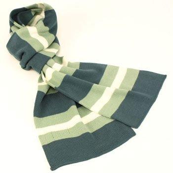Men's Winter Ski Soft 2ply Knit Striped Scarf Tri Slate
