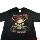"""No Guts - No Glory"" BLACK SKULL PIRATE T-SHIRT * LARGE"