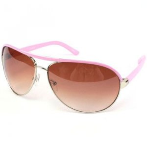 80s Aviator Designer Retro Sunglasses Shades Metal Pink