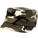 Hot Crystals Summer Cotton Kids 4-7 Cadet Hat Cap Gray