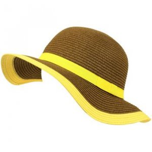Kids 4-12 UPF 50+ Sun Beach Hat Floppy Adjustable Brown