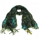 Animal Print Leopard Light Scarf Shawl Wrap Multi Gray