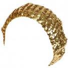 Sequins Shimmer Sparkle Stretch Beret Beanie Hat Gold