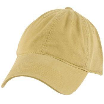 Cotton Twill Baseball Ball Cap Adjustable Hat Khaki
