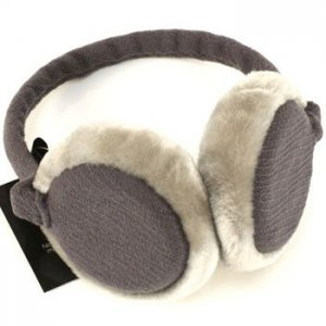 Winter Fuzzy Ski Earmuff Ear Warmer Adjustable Gray