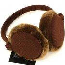 Winter Fuzzy Ski Earmuff Ear Warmer Adjustable Brown