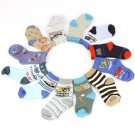 Baby Infant Boys Age 6-9 months Cotton 12 Pairs Crew Mid Calf Socks Set Size 2-4