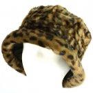 Winter Faux Fur Bucket Hat Cap Packable Elastic Camel