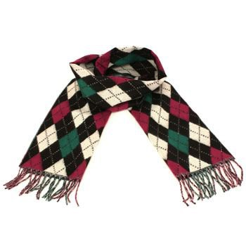 Winter Softer Than Cashmere? Scarf Argyle Plaid Wine