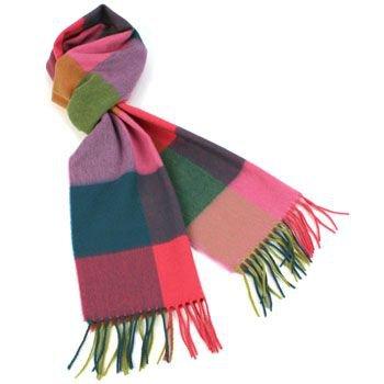Winter Softer Than Cashmere Warm Ski Snow Scarf Shawl Fringe Plaid Check Rainbow