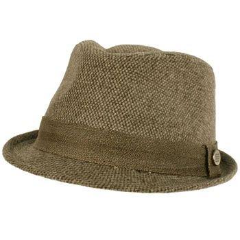 Unisex Winter Classic Wool Blend Stingy Brim Faux Leather Hatband Hat Brown L/XL