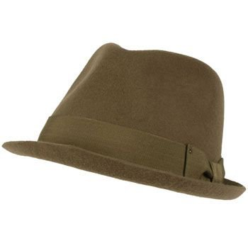 Unisex Winter Classic 100% Wool Felt Upturn Snap Curled Brim Ribbon Hat Gray M/L
