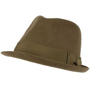 Unisex Winter Classic 100% Wool Felt Upturn Snap Curled Brim Ribbon Hat Gray LXL