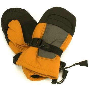 Age 4-7 Winter Thinsulate 3M Waterproof Ski Snow Palm Grip Mitten Gloves Orange
