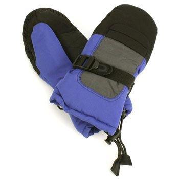 Age 4-7 Winter Thinsulate 3M Waterproof Ski Snow Palm Grip Mitten Gloves Blue