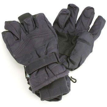 Boy Age 12-14 Winter Thinsulate 3M Waterproof Velcro Ski Snow Grip Gloves Navy