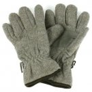 Ladies Winter Dual Thick Fleece Ski 3M Thinsulate Grip Snow Gloves Gray S/M