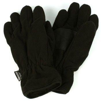 Men's Winter Dual Thick Fleece Ski 3M Thinsulate Palm Grip Snow Gloves Black LXL