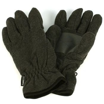 Men's Winter Thick Fleece Ski 3M Thinsulate Palm Grip Snow Gloves Charcoal LXL
