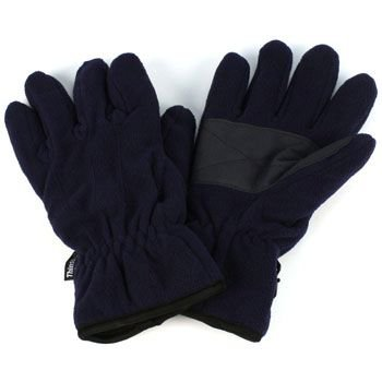 Men's Winter Dual Thick Fleece Ski 3M Thinsulate Palm Grip Snow Gloves Navy M/L