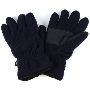 Men's Winter Thick Dual Fleece Ski 3M Thinsulate Palm Grip Snow Gloves Navy LXL