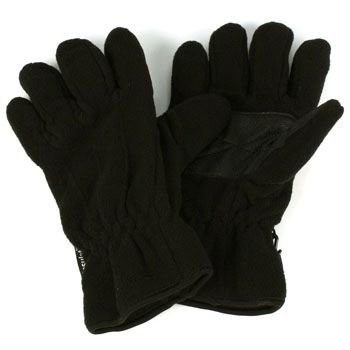 Ladies Winter Dual Thick Fleece Ski 3M Thinsulate Grip Snow Gloves Black M/L