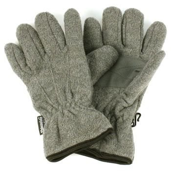 Ladies Winter Dual Thick Fleece Ski 3M Thinsulate Grip Snow Gloves Gray M/L