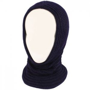 4-1 Chunky Knit Pullover Beanie Headscarf Circle Loop Neckwarmer Scarf Hat Navy