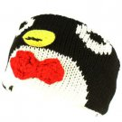 Winter Fleece Lined Knit Adjustable Headband Headwrap Ski Snow Animal Penguin