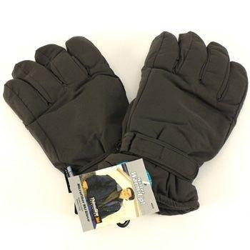 Men's Winter Thinsulate 3M Waterproof Velcro Ski Snow Gloves Solid Gray L/XL