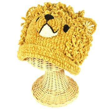 Winter Boys Toddler Kids 1-2 San Diego Hat Co Chenille Knit Lion Beanie Hat Cap
