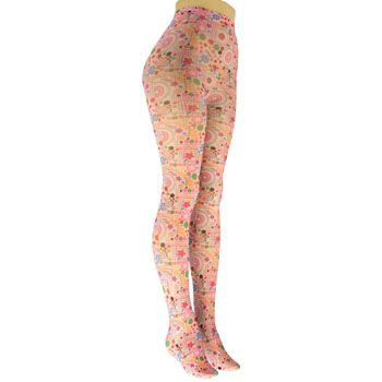Winter Thick Groovy Floral Patterned Footed Pantyhose Stocking Stretchy Tights
