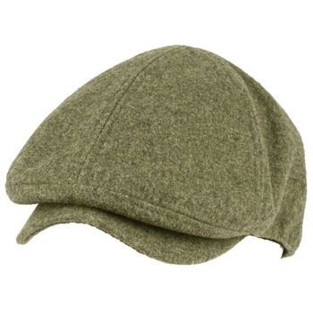 Men's Winter Wool Snap Open Duck Bill Curved Ivy Cabby Driver Hat Cap Gray S/M