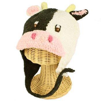 Winter Boys Girls Toddler Kids 1-2 San Diego Hat Co Knit Cow Trooper Hat Cap