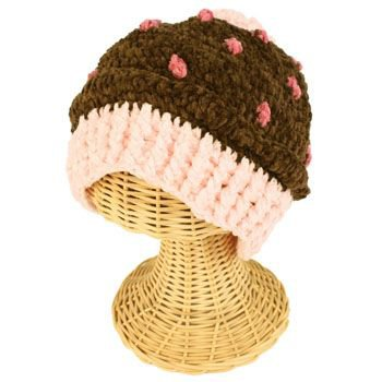 Winter Girls Toddler Kids 1-2 San Diego Hat Co Knit Cupcake Ski Beanie Hat Cap