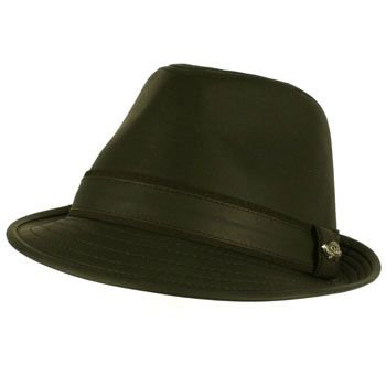 Men's Winter Classic Faux Leather Distress Fedora Trilby Gangster Hat Black S/M