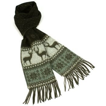 Unisex Winter Softer Than Cashmere? Warm Snow Scarf Shawl Fringe Reindeer Black