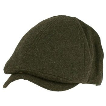 Men's Winter Wool Snap Open Duck Bill Curved Ivy Driver Hat Cap Charcoal S/M