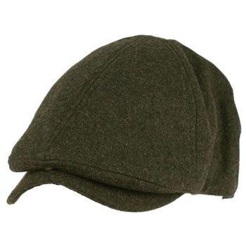 Men's Winter Wool Snap Open Duck Bill Curved Ivy Driver Hat Cap Charcoal L/XL