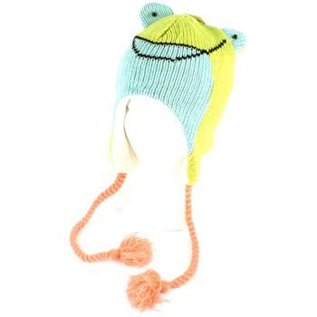 Winter Knit Green Frog Animal Trooper Trapper Lined Ski Snow Tassel Hat Cap