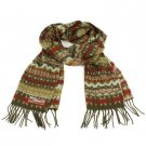 Unisex Winter Better Than Cashmere? Ski Snow Scarf Shawl Fringe Snowflake Olive