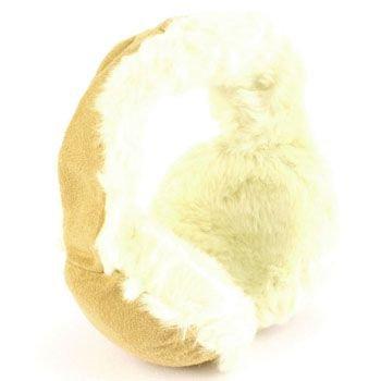 Kids 1-6 Winter Plush Faux Fur Fake Suede Fuzzy Ski Earmuff Adjustable Camel