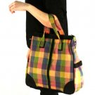 Buffalo Plaid Handbag Tote Shoulder Bag Zipper Pastel