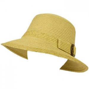 UPF 50+ Ladies Summer Shimmer Cloche Bell Bucket Sun Buckle Hat Cap 57cm Natural